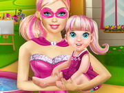 Barbie Playing With Baby