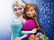 Elsa And Anna Eggs Painting