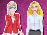 Elsa And Rapunzel Interview Outfits